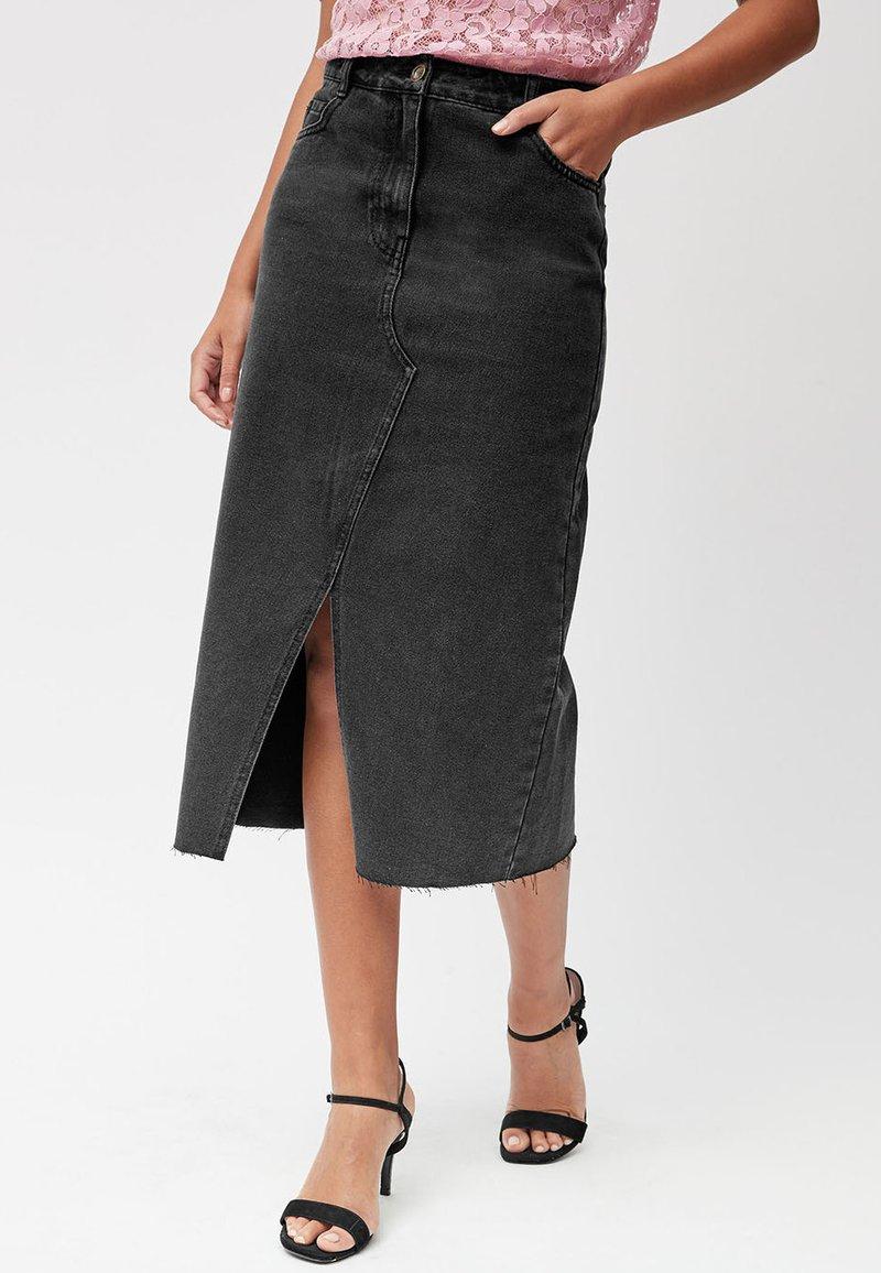 Next - Denim skirt - black