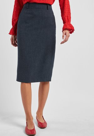 NAVY MARL TAILORED FIT PENCIL SKIRT - Pencil skirt - blue