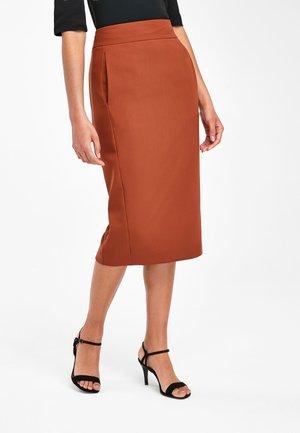 GINGER PENCIL SKIRT - Pencil skirt - brown