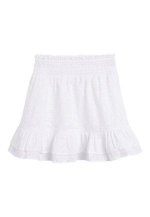 MONOCHROME SPOT RUFFLE SKIRT (3-16YRS) - A-line skirt - white