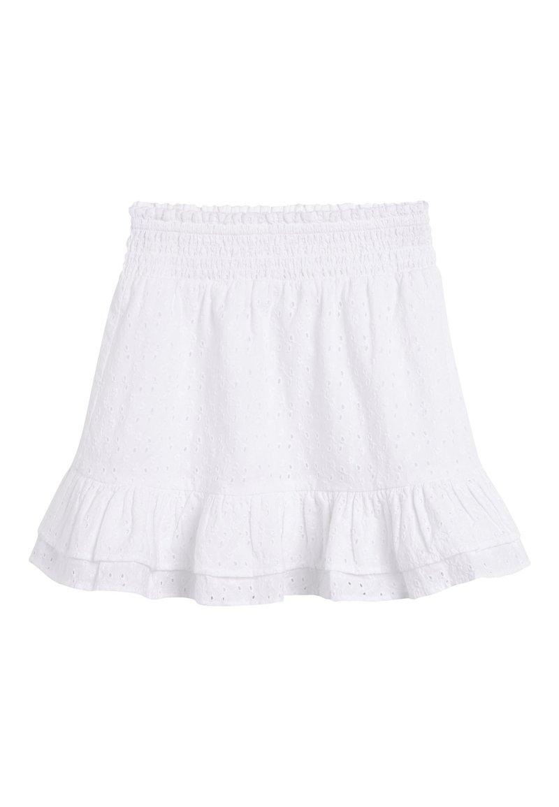 Next - MONOCHROME SPOT RUFFLE SKIRT (3-16YRS) - A-line skirt - white