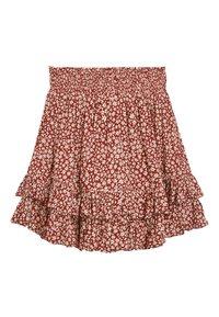 Next - MONOCHROME SPOT RUFFLE SKIRT (3-16YRS) - A-line skirt - red - 0
