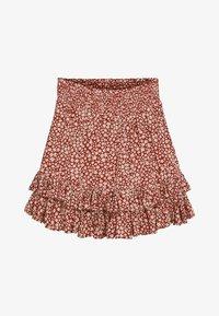 Next - MONOCHROME SPOT RUFFLE SKIRT (3-16YRS) - A-line skirt - red - 1