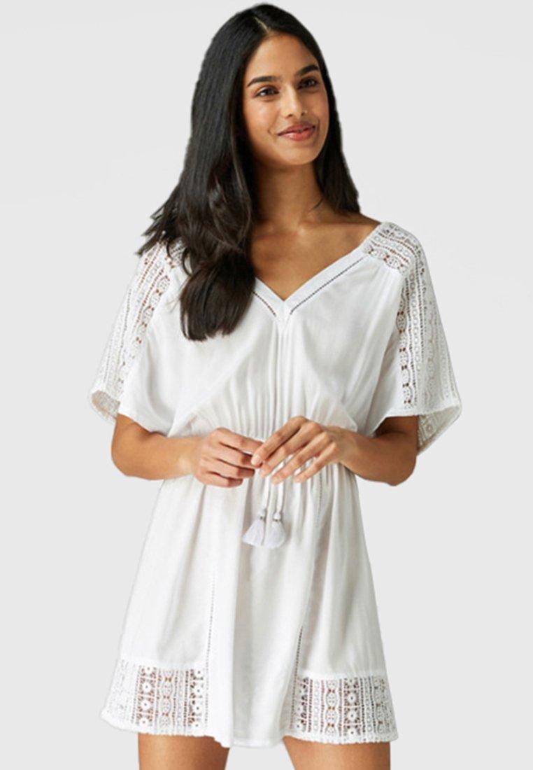 Next - Skjortekjole - white