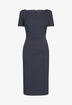 SQUARE NECK - Shift dress - blue