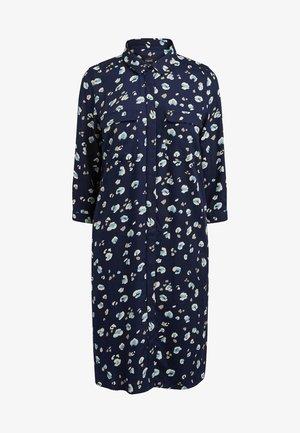 NAVY ANIMAL SHIRT DRESS - Abito a camicia - blue