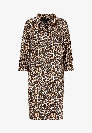 NAVY ANIMAL SHIRT DRESS - Blousejurk - mottled brown