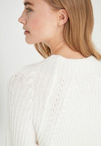 Next - WHITE LOFTY FUNNEL NECK DRESS - Gebreide jurk - white - 3