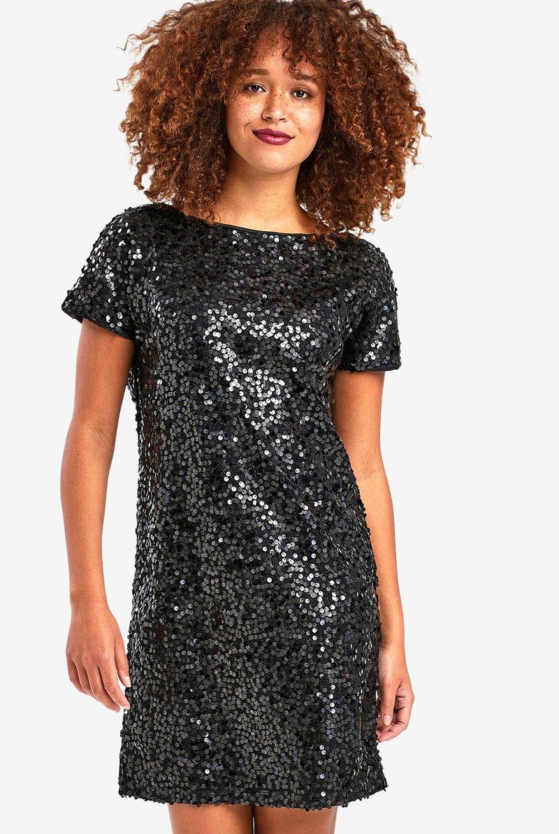 Next - NAVY SEQUIN T-SHIRT DRESS - Sukienka koktajlowa - black