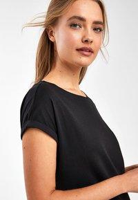 Next - BLACK JERSEY BOXY T-SHIRT DRESS - Day dress - black - 3