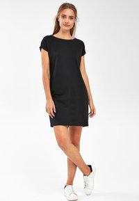 Next - BLACK JERSEY BOXY T-SHIRT DRESS - Day dress - black - 1