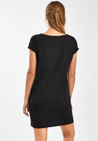 Next - BLACK JERSEY BOXY T-SHIRT DRESS - Day dress - black - 2