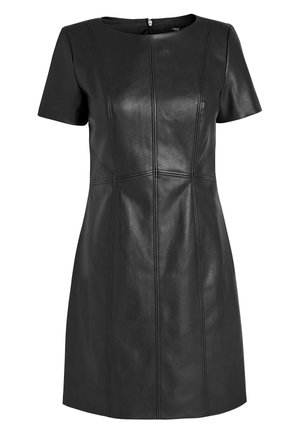 FAUX LEATHER DRESS - Day dress - black