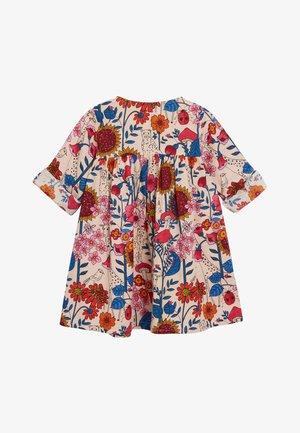 CORAL FLORAL PRINT BUTTON THROUGH DRESS (3MTHS-7YRS) - Day dress - pink