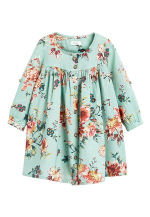 CORAL FLORAL PRINT BUTTON THROUGH DRESS (3MTHS-7YRS) - Sukienka letnia - green