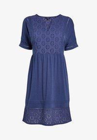 Next - NAVY BRODERIE DRESS - Jersey dress - blue - 3