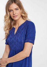 Next - NAVY BRODERIE DRESS - Jersey dress - blue - 2