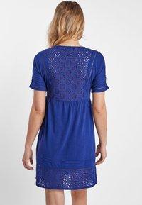 Next - NAVY BRODERIE DRESS - Jersey dress - blue - 1