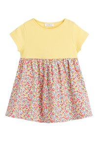 Next - YELLOW DITSY FLORAL PRINTED DRESS (0MTHS-2YRS) - Vestido informal - yellow - 0