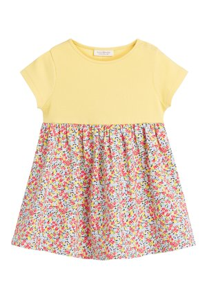 YELLOW DITSY FLORAL PRINTED DRESS (0MTHS-2YRS) - Robe d'été - yellow