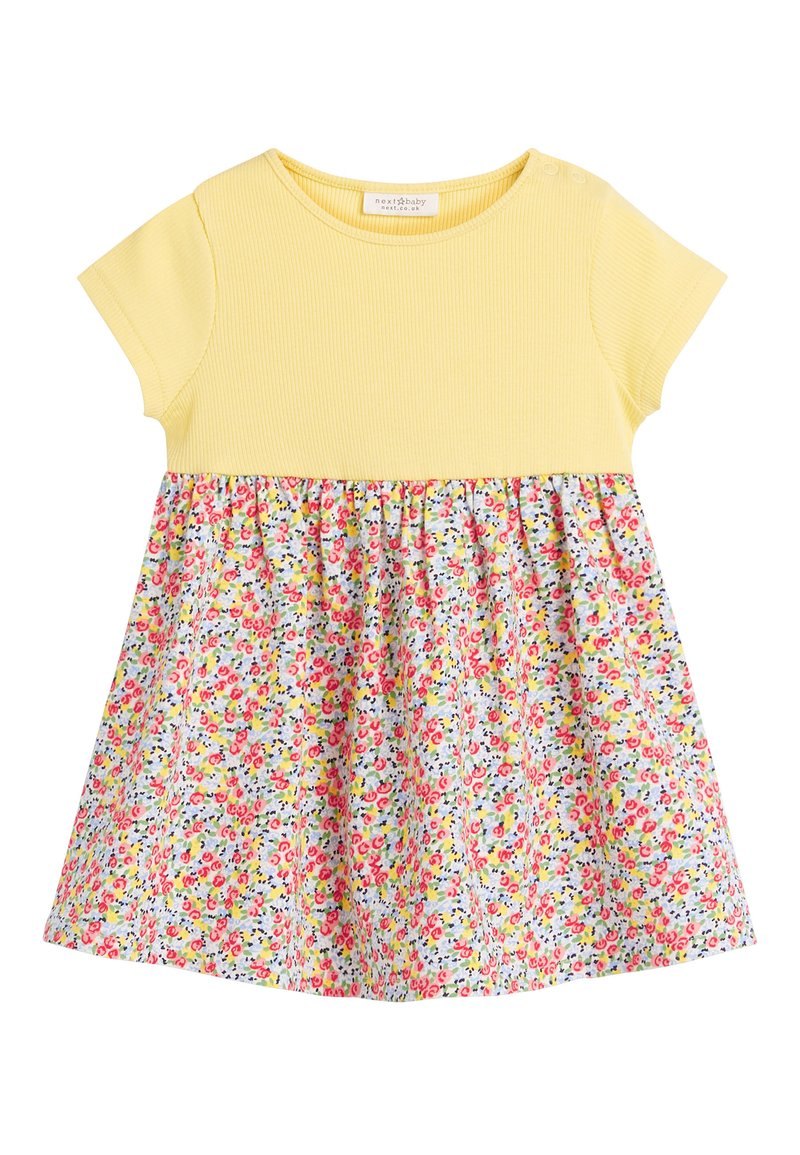 Next - YELLOW DITSY FLORAL PRINTED DRESS (0MTHS-2YRS) - Vestido informal - yellow