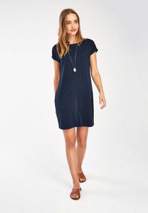 NAVY BOXY DRESS - Jersey dress - blue