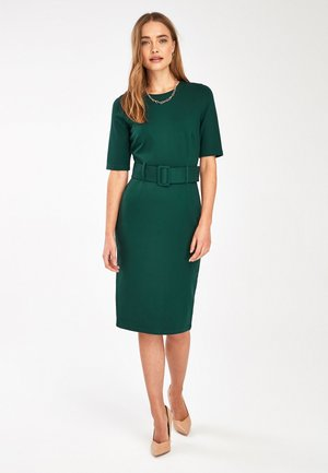 RED PONTE BODYCON DRESS - Shift dress - green