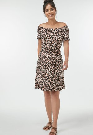 ABSTRACT FLORAL PRINT DRESS - Day dress - black