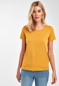 Next - Basic T-shirt - yellow - 0