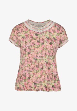 WHITE BUBBLEHEM T-SHIRT - T-Shirt print - pink