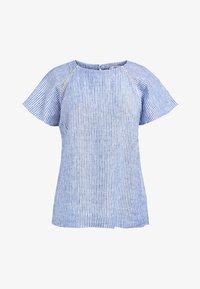 Next - BLUE/WHITE STRIPE SHORT SLEEVE LINEN TOP - Bluse - blue - 3