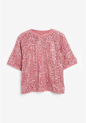 SEQUIN KIMONO SLEEVE T-SHIRT - T-shirt imprimé - pink