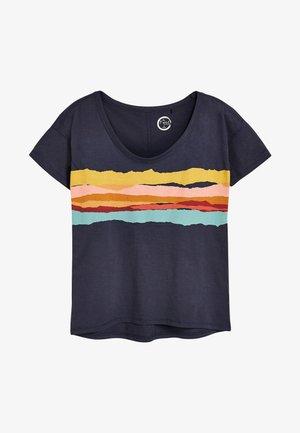 Print T-shirt - mottled blue