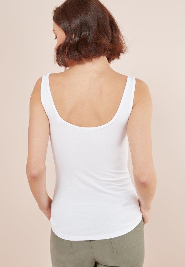 THICK STRAP VEST - Top - white