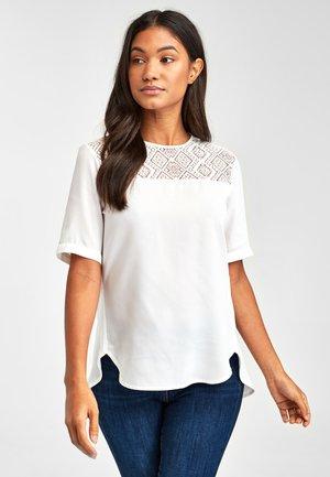 ECRU LACE INSERT TOP - Bluse - white
