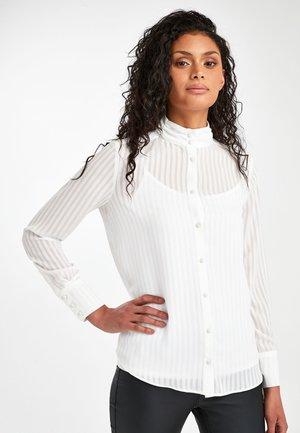 ECRU HIGH NECK SHIRT - Paitapusero - white