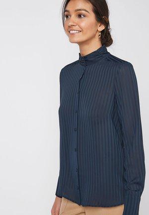 ECRU HIGH NECK SHIRT - Button-down blouse - blue