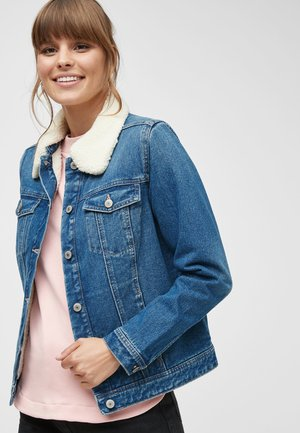 BORG LINED  - Giacca di jeans - blue
