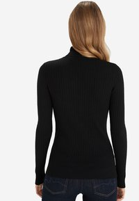 Next - BLACK RIB ROLL NECK JUMPER - Sweter - black - 1