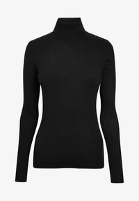 Next - BLACK RIB ROLL NECK JUMPER - Sweter - black - 3