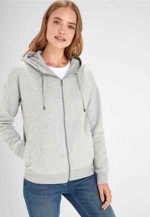 RASPBERRY ZIP THROUGH HOODY - veste en sweat zippée - grey