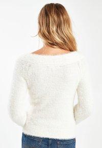 Next - WHITE SNOWFLAKE BARDOT CHRISTMAS JUMPER - Pullover - white - 1