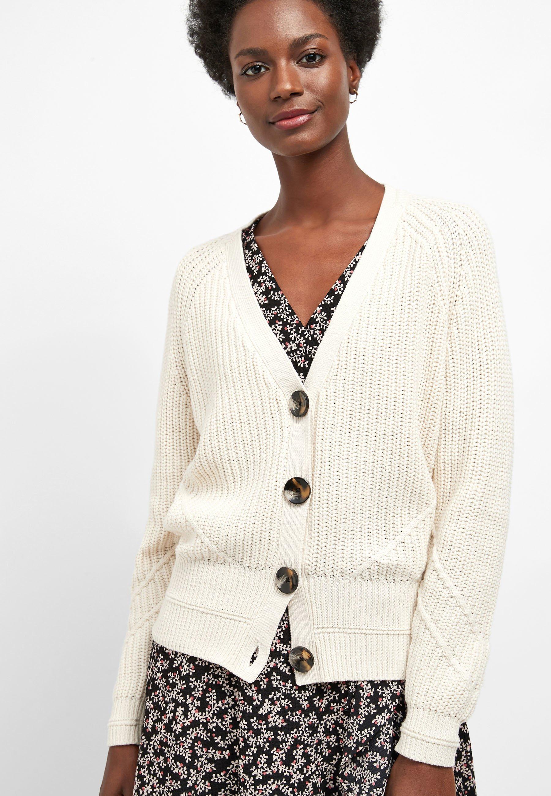 Next Green Twist Stitch V-neck Cardigan - Vest Off-white uKKa9mzv
