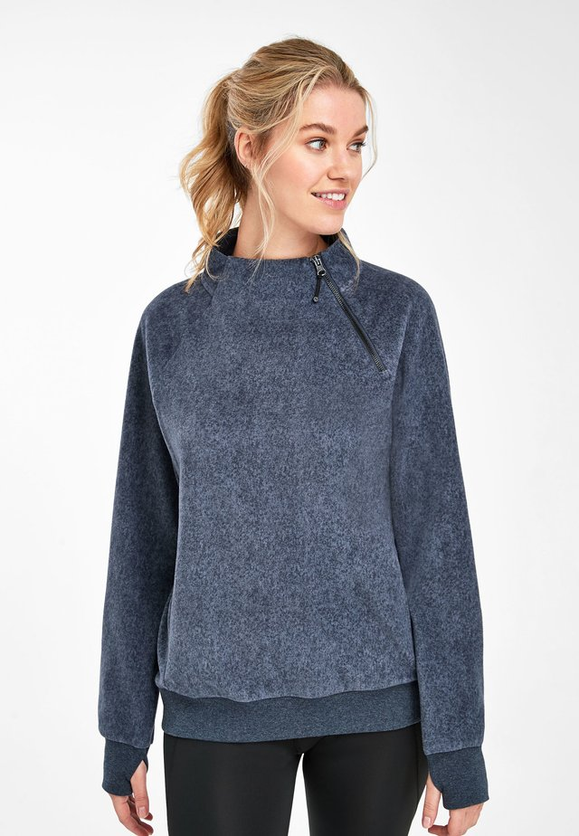 NAVY SKI ZIP NECK SWEATSHIRT - Sweatshirt - blue
