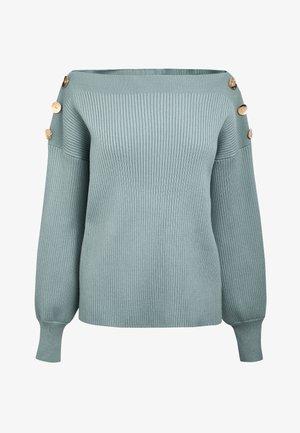 MINT BUTTON DETAIL JUMPER - Sweter - green