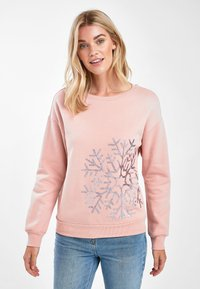 Next - LET IT SNOW CHRISTMAS - Sweatshirt - mottled pink - 0