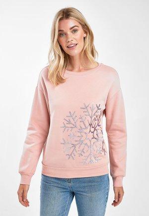 LET IT SNOW CHRISTMAS - Sweatshirt - mottled pink