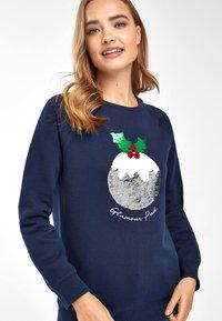 Next - CHRISTMAS PUDDING - Sweatshirt - blue - 2
