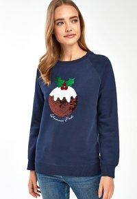 Next - CHRISTMAS PUDDING - Sweatshirt - blue - 0