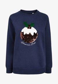 Next - CHRISTMAS PUDDING - Sweatshirt - blue - 3